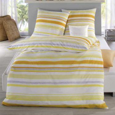 Bettwäsche Seersucker gelb