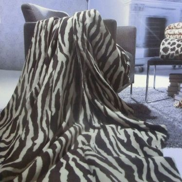 Kuscheldecke Flauschdecke Wohndecke Zebra