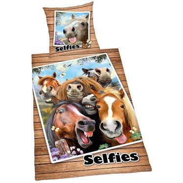 """Wende-Bettwäsche Herding """"Selfies Pferde"""""""
