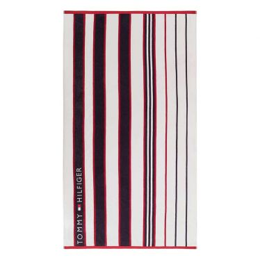 """Strandtuch Tommy Hilfiger """"Red and Blue Striped"""""""