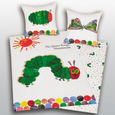 Raupe Nimmersatt Kinderbettwäsche
