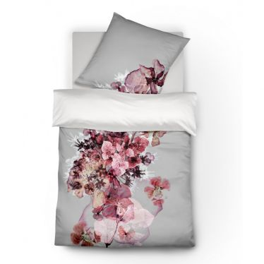 Mako Satin Wende-Bettwäsche fleuresse Blütenzauber