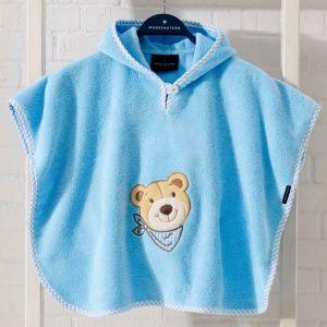 """Morgenstern Baby-Poncho """"Bär blau"""""""