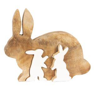 Dekoobjekt Kaninchen 17 cm