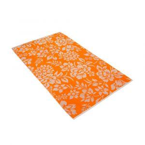 """Strandtuch Vossen """"Flower Print orange"""""""