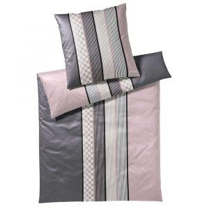 "Mako-Satin-Bettwäsche Elegante ""Joop Cornflower rosa/grau"""