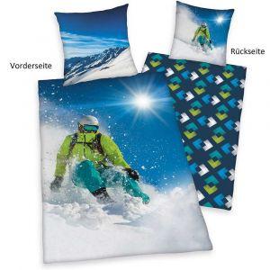 """Wende-Bettwäsche Herding """"Skifahrer"""""""