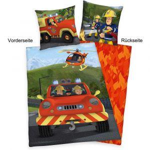 """Flanell-Wende-Bettwäsche Herding """"Feuerwehrmann Sam"""""""